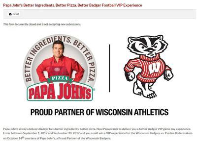 Wisconsin Athletics' sponsorship relationship with Papa