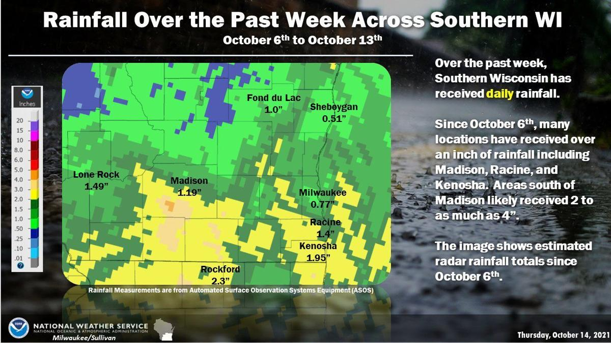 Rainfall Oct. 6-13 by National Weather Service