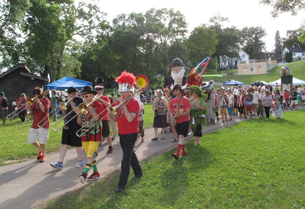 The Forward Marching Band at Make Music Madison