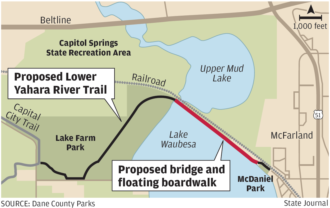 New bike trail linking Madison to McFarland in 2016 budget proposal Bike Map Madison Wi on