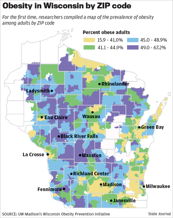 Rural residents more likely to be obese; Madison neighborhood
