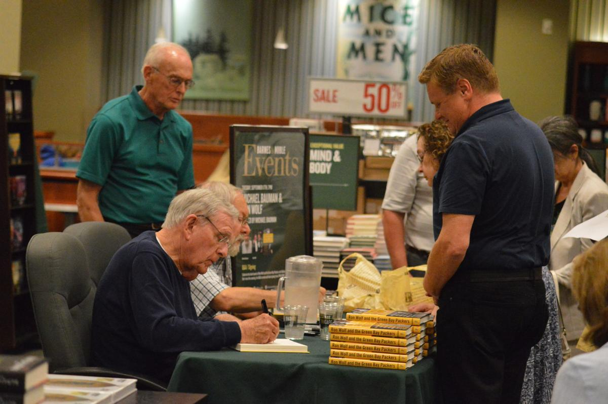 Ron Wolf at book signing 2