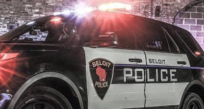 Beloit Police squad car tight crop