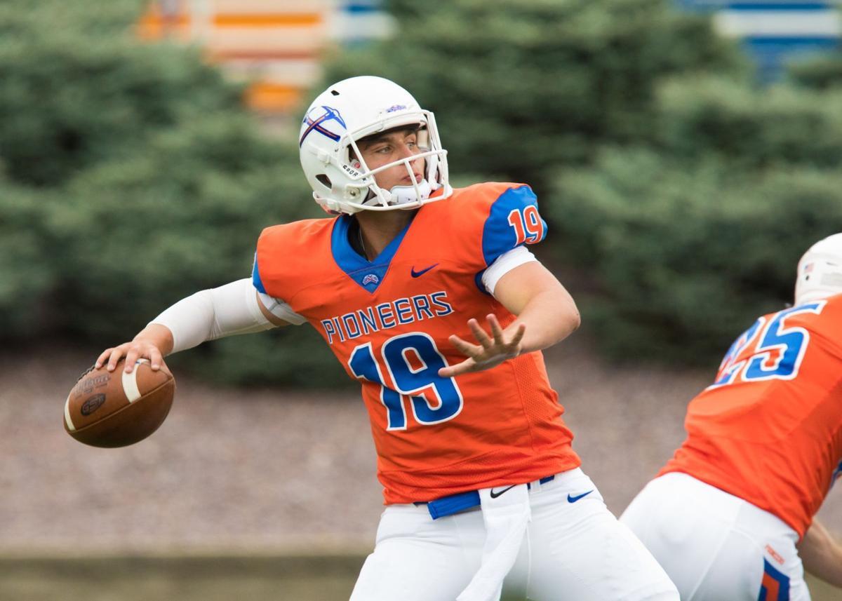 UW-Platteville football photo: Freshman quarterback Cade Earl