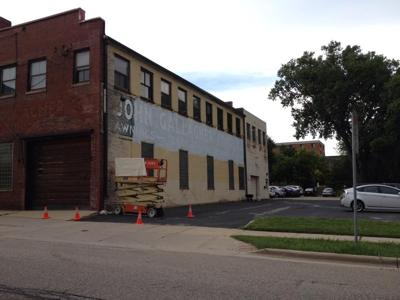 Madison Artist Angela Richardsons Face >> Historic Gallagher Tent And Awning Ghost Sign Disappears Under A