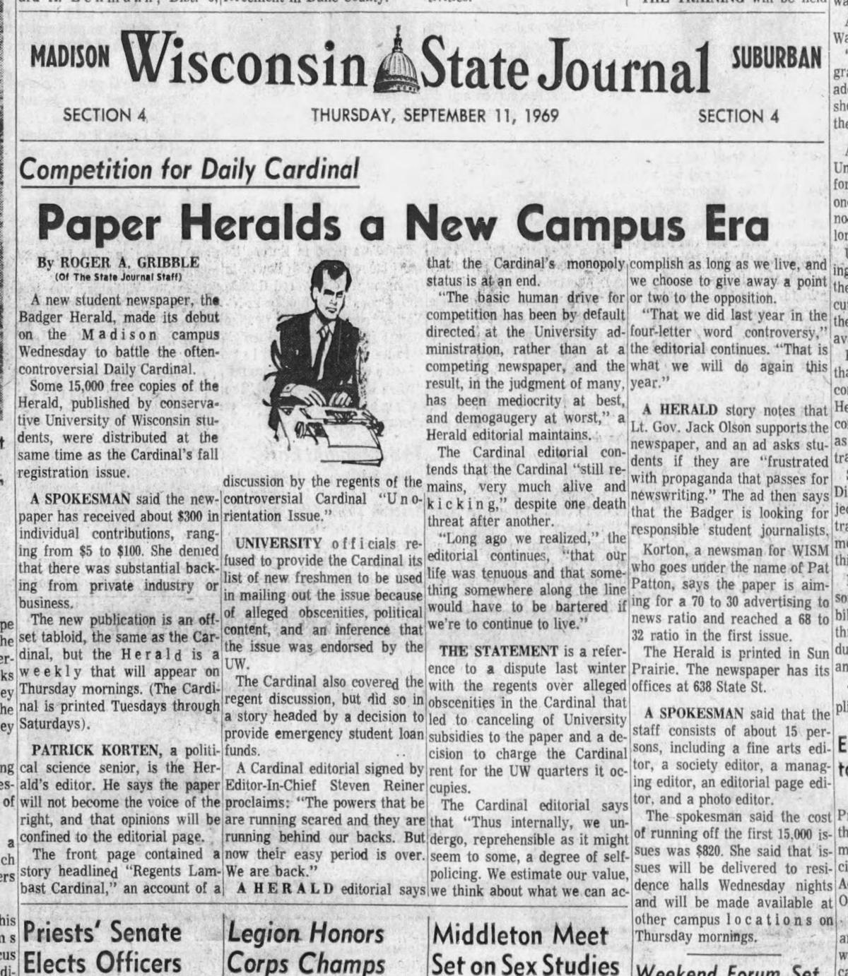 Sept. 11, 1969 edition of the Wisconsin State Journal.