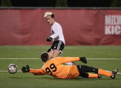 WIAA state boys soccer: Collin Bjerke scores for Oregon