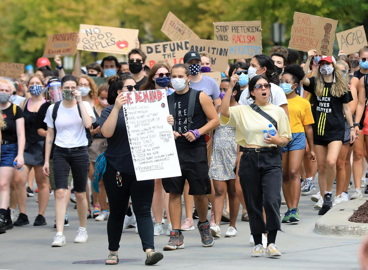 A1 photo - Downtown protest