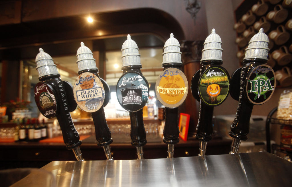 beer taps at Capital Brewery