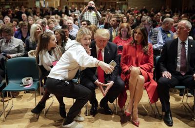 Trump at church