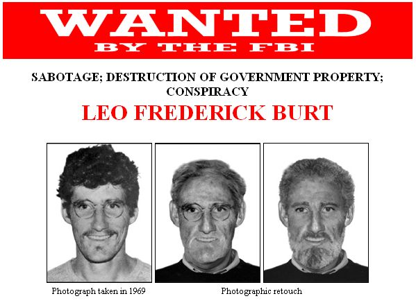 Leo Burt FBI wanted poster screenshot