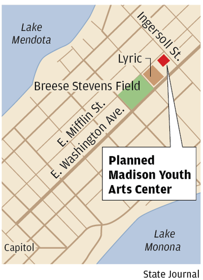 Youth Arts Center map