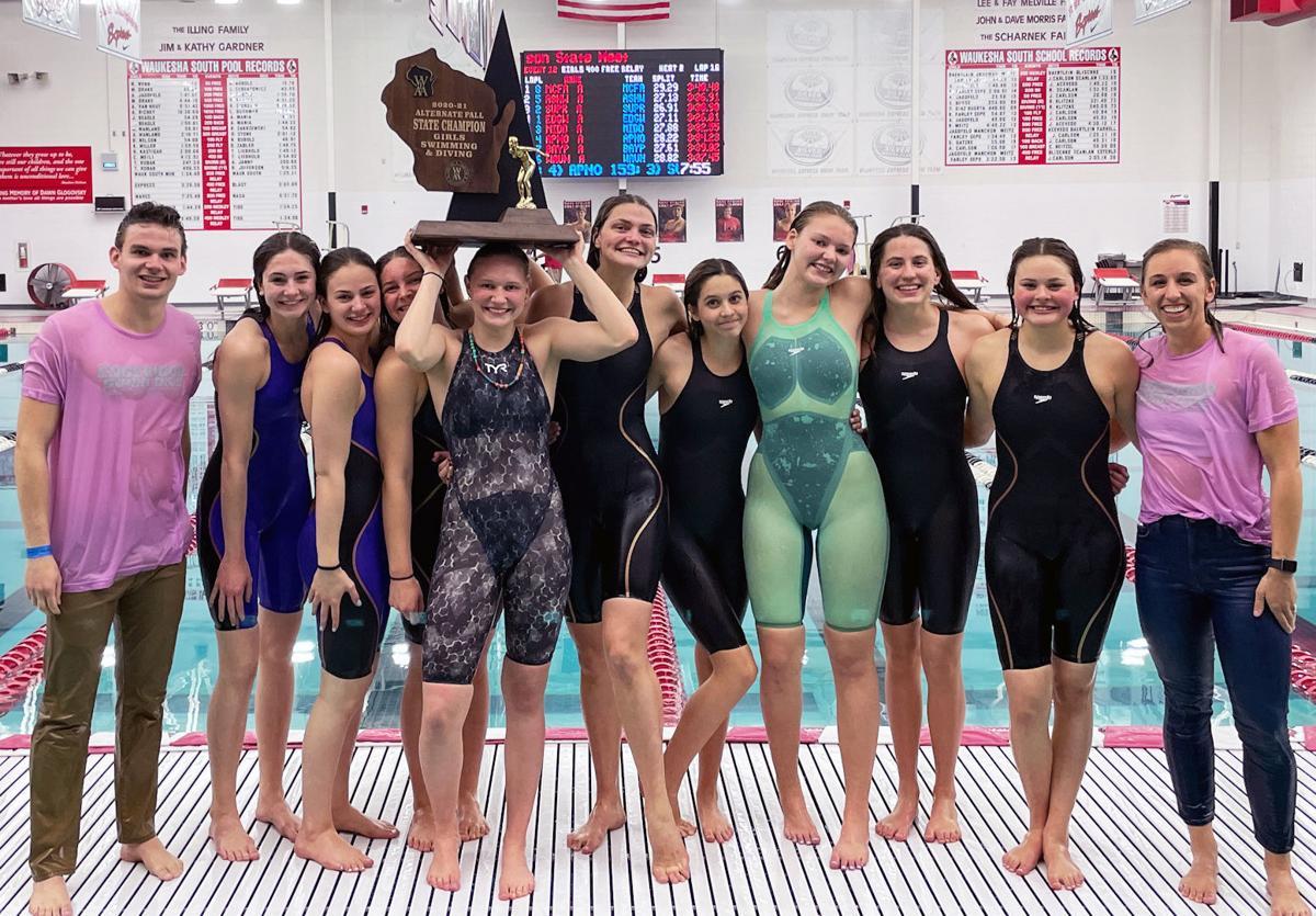 WIAA state girls swimming: Madison Edgewood's WIAA state girls swimming team champions