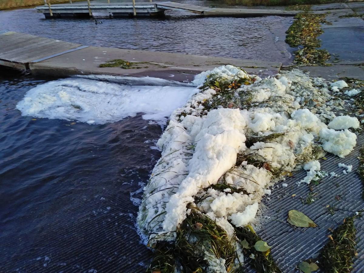 Foam on Starkweather Creek