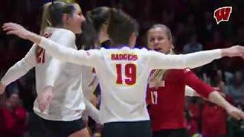 Highlights of Badgers volleyball wins in NCAA 1st and 2nd round