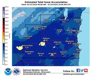 After lull, snowstorm to intensify across southern Wisconsin Wednesday morning. See how much will fall and where