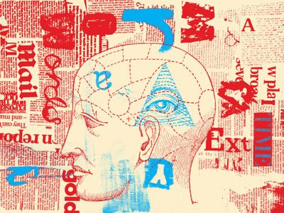 Conspiracy mind illustration