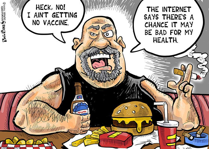 Hands on Wisconsin: Compared to all the junk we put in our bodies, vaccines  are incredibly safe | Opinion | Cartoon | madison.com