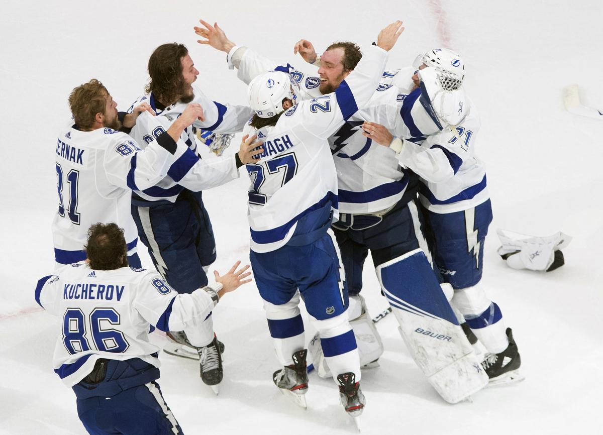 APTOPIX Stars Lightning Hockey