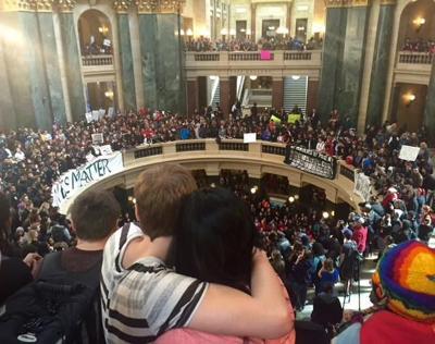Tony Robinson protest - Capitol