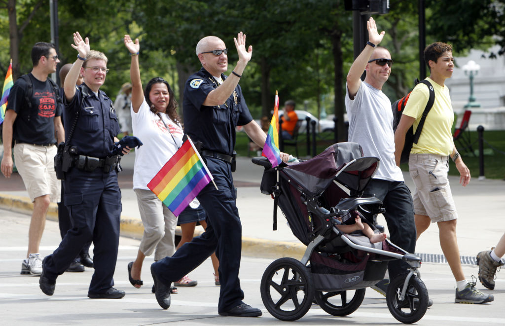 Police officers at Pride Parade