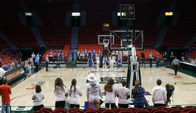 WIAA state girls basketball photo: Sparse crowd at the Resch Center (copy)