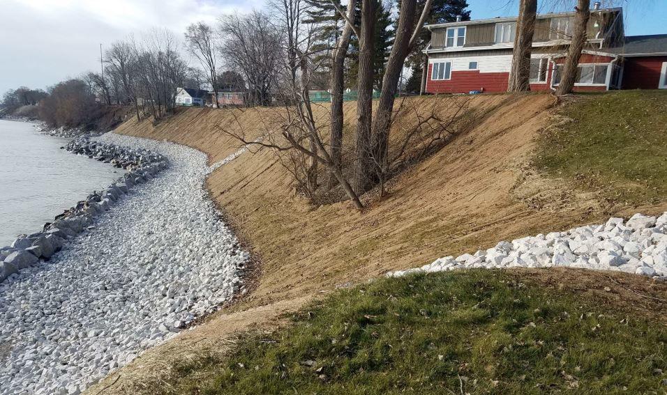 Lake bluff erosion update