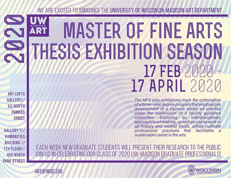 2020 UW-Madison MFA Exhibition Season