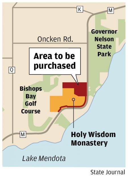 Holy Wisdom Monastery map