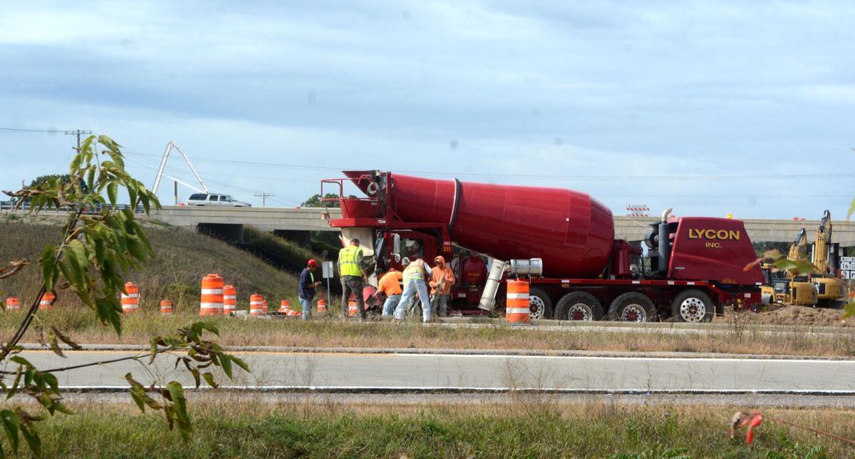 Roadwork at exit ramp