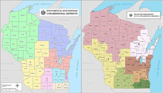 analysis nonpartisan district maps would have favored democrats in 2012 gop in 2010 politics and elections madisoncom