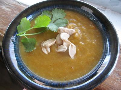 Spicy Indonesian Yam and Peanut Soup