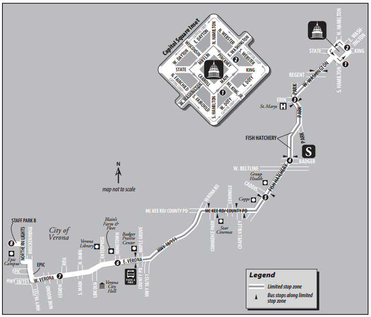 Madison Metro Map.Shuffling Madison Metro Buses Could Add Capacity To Epic Systems