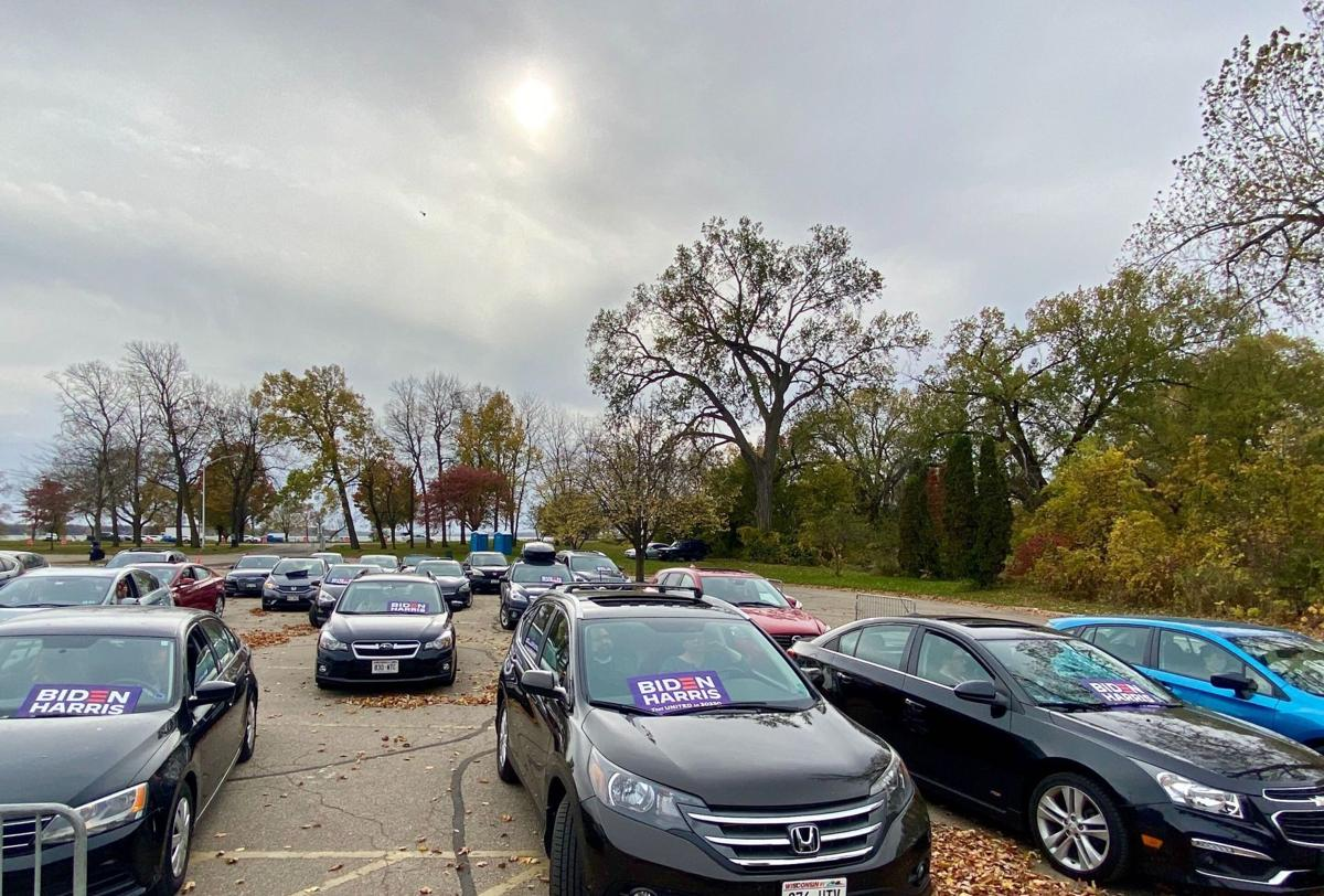 Warren drive-in GOTV rally
