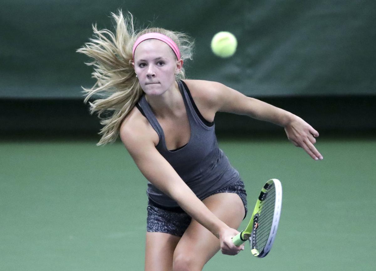 Grace Olson, girls tennis lead photo