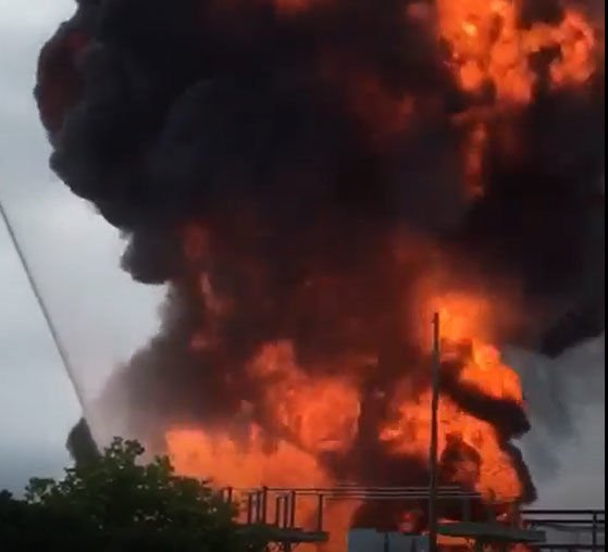 Video: Watch transformer explosion at MGE