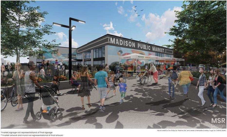 Madison Public Market design rendering