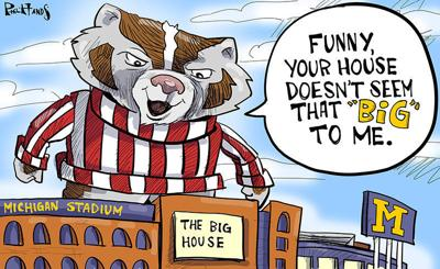"""Bucky visits the """"Big House"""""""