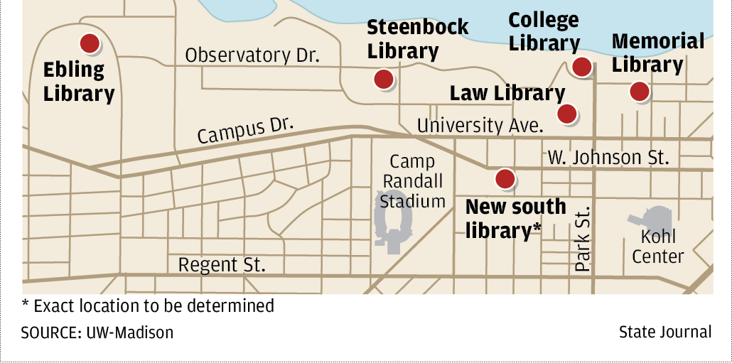 Uw Madison Library Plan Would Create Six Hubs Close 22 Libraries