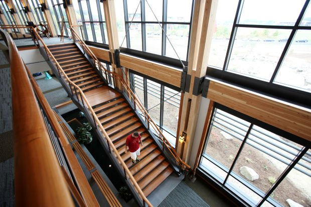 Looking out on the prairie from Promega's new Feynman Center