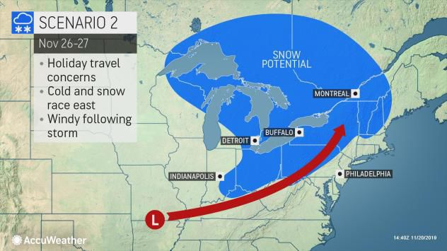 Big snowstorm still could hit Wisconsin, central US just ...