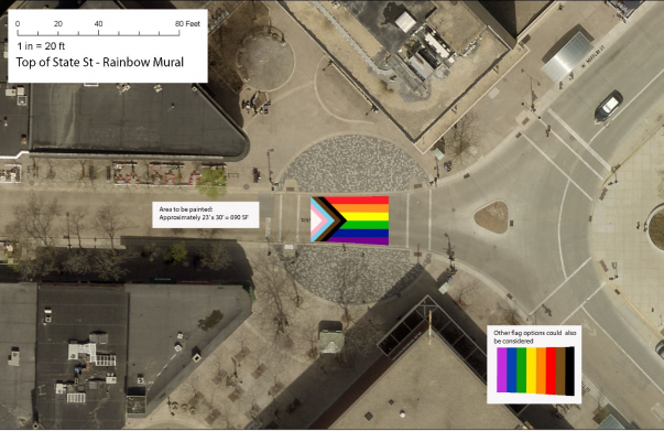 Proposed rainbow mural
