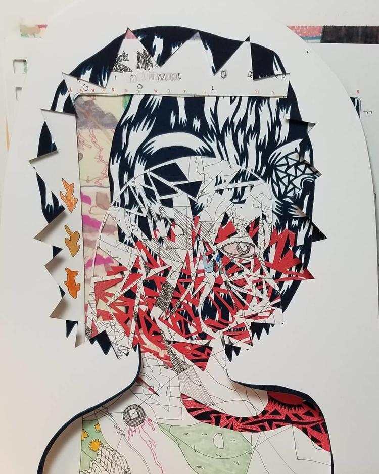 Mixed Media Art by Ryan Cain