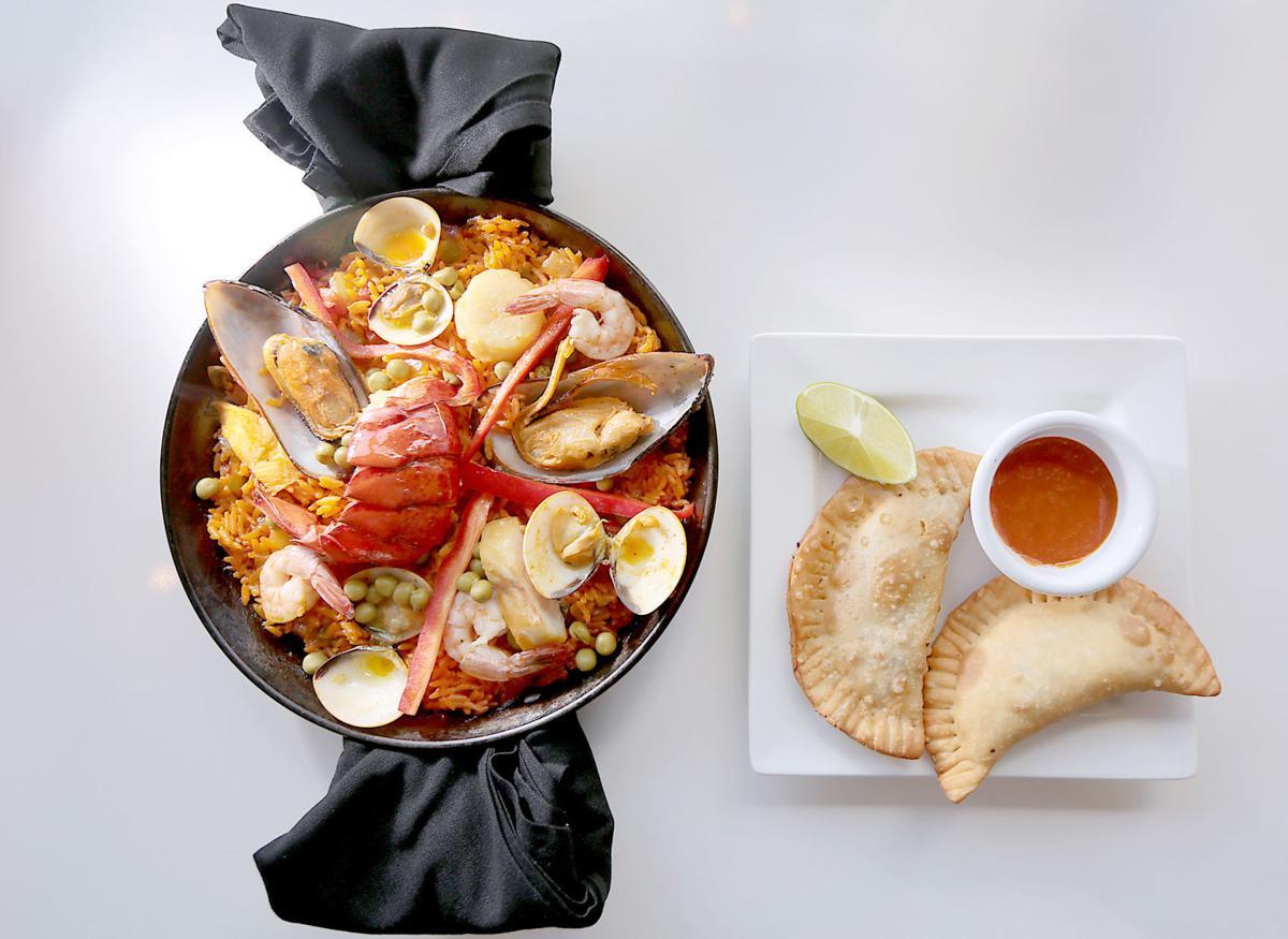 Zandru's paella and empanadas