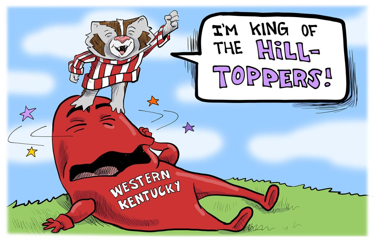 Bucky is king of the Hilltoppers