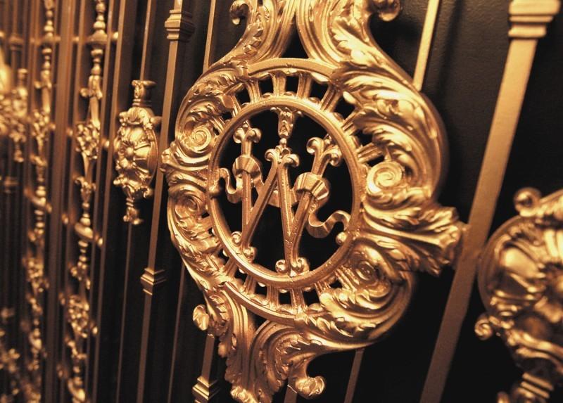 Capitol, elevator door, W