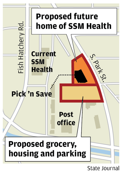 Proposed grocery, housing and parking