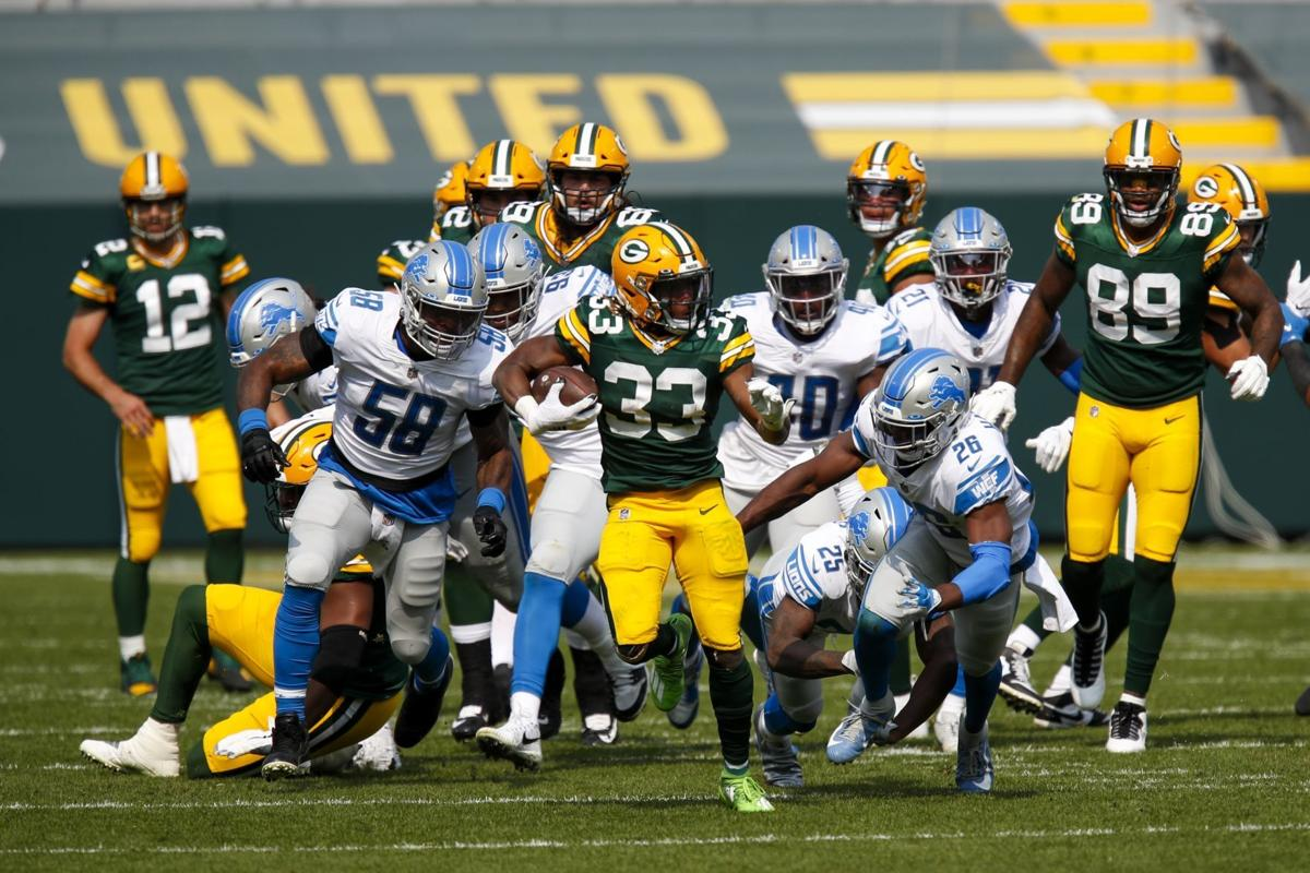 Aaron Jones - Lions Packers Week 2