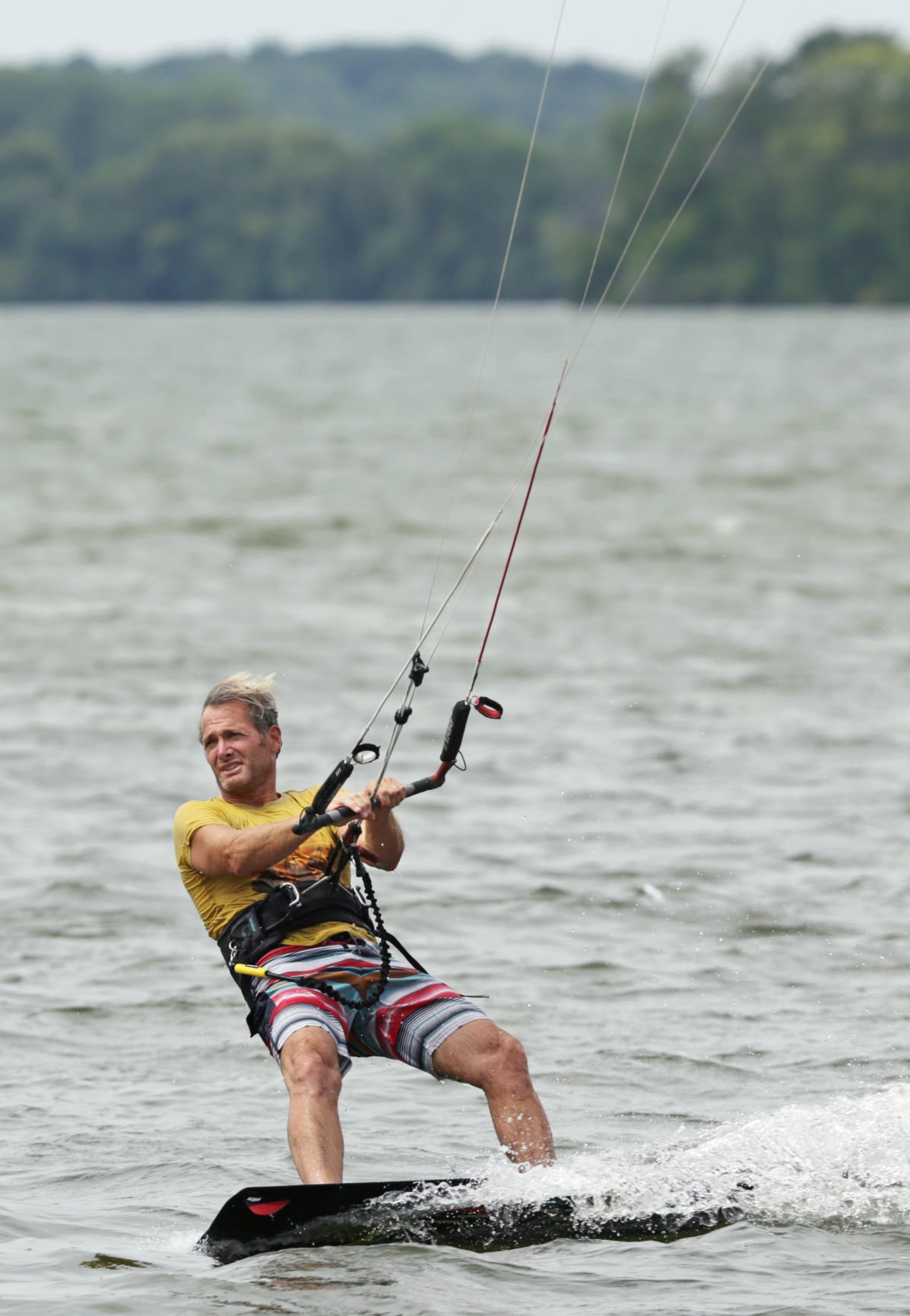 Kiteboarding on Lake Waubesa