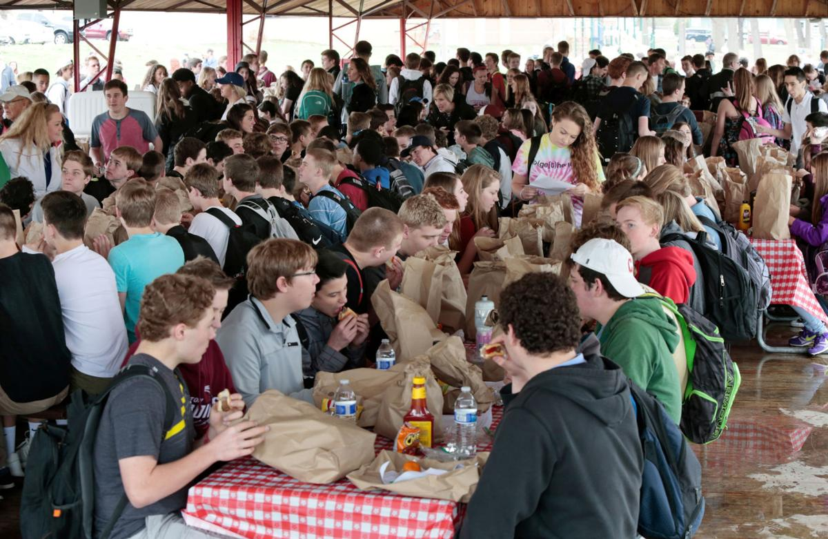 Lunch tables at 'Jesus Lunch'